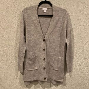 New Old Navy Mushroom Taupe Button Long Cardigan